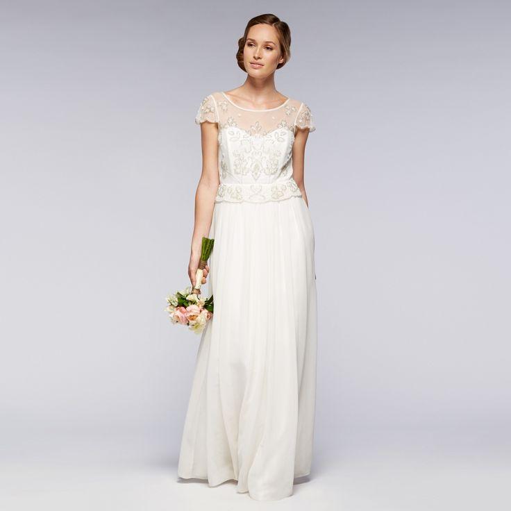 Debut Ivory Embellished Wedding Dress Debenhams