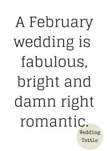 A February wedding