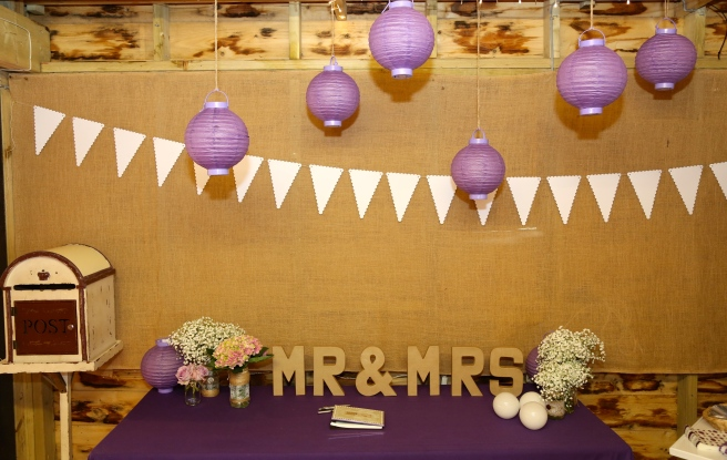 Real Wedding- Kat and Matt's Rustic Themed Wedding With Purple Hues